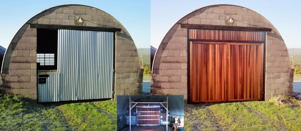 Garage Door For An Arched Building Derby Doors